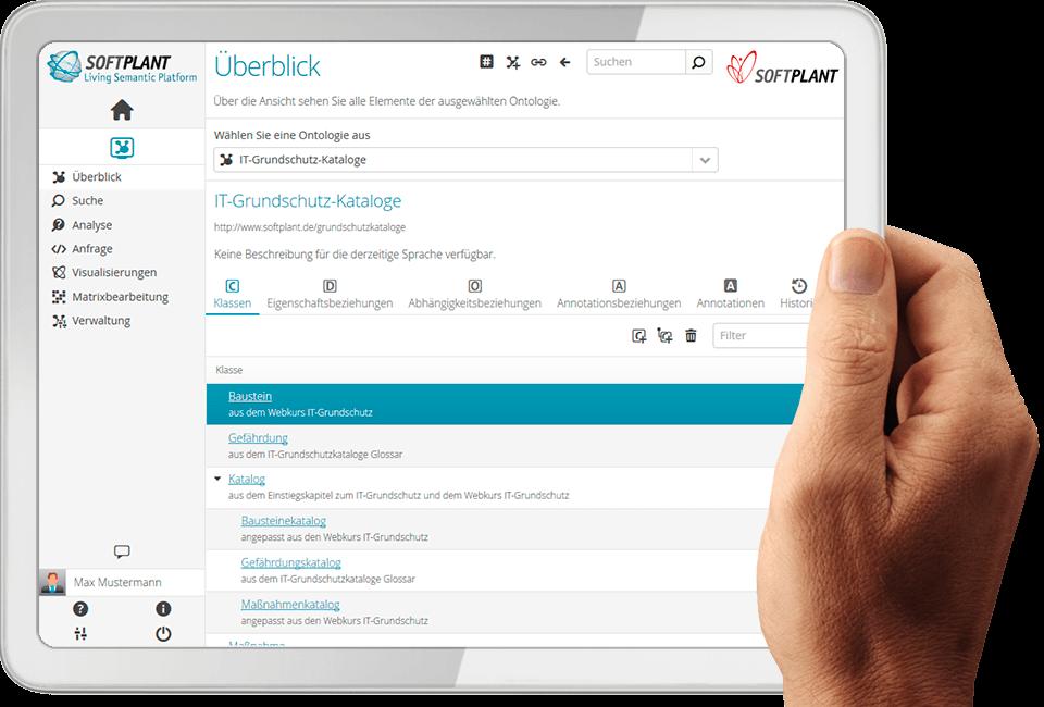 Bild: Screenshot Living Semantic Platform by Softplant GmbH