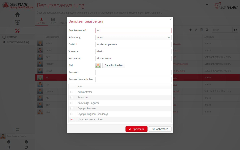 LEP-Feature: Feingranuare Benutzerverwaltung: Steuern Sie über das Rollen-/Rechtesystem gezielt die Berechtigungen eines Benutzers oder einer Benutzergruppe
